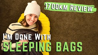 I'll Never Use A Slęeping Bag Again!! - 1000 Mile Gear Review of my Sleep System for Hiking