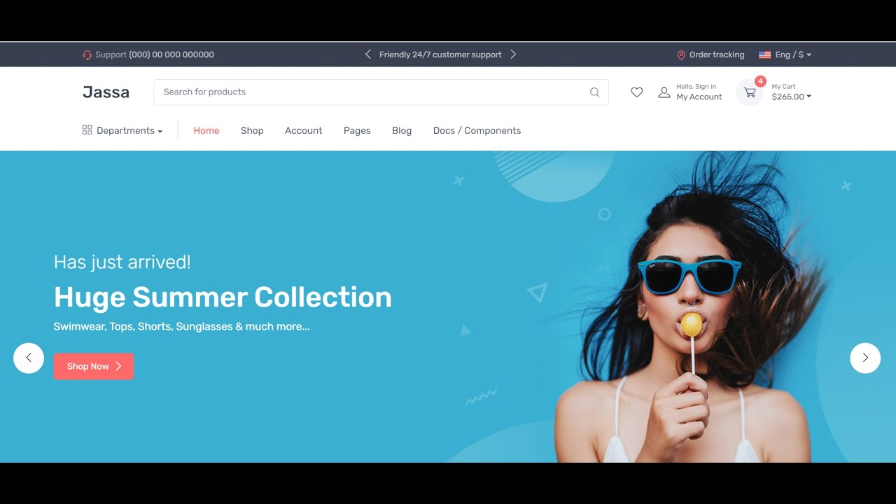 Angular 11 Bootstrap 5 Ecommerce Template Working Demo 2