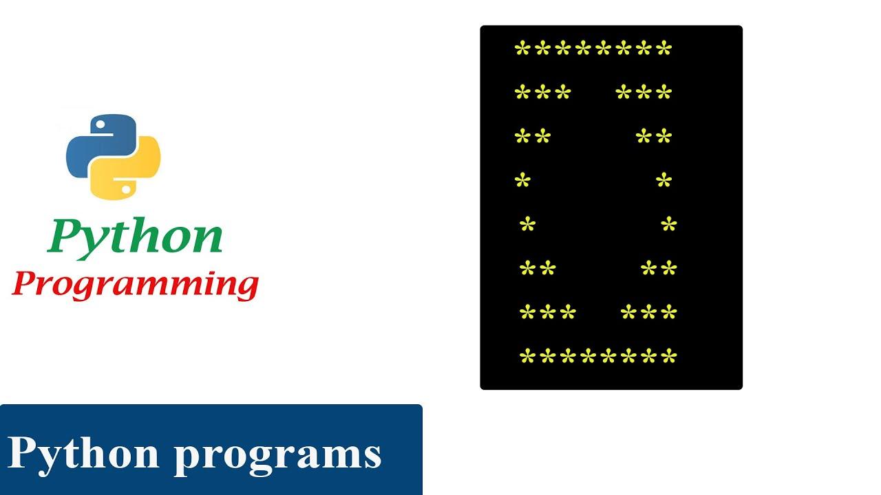 Python Pattern Program - Print Stars in Hollow Diamond Shape