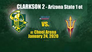 Clarkson men's Hockey 2 - Arizona State 1 OT, Jan. 24, 2020
