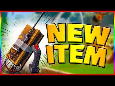 BRAND NEW C4 EXPLOSIVE ITEM!! Fortnite Battle Royale (184/200 Wins)