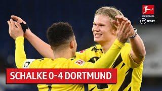 Schalke vs. Dortmund (0-4) | Erling Haaland with a stunner in Revierderby | Bundesliga Highlights