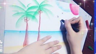 Vẽ tranh cực kì đơn giản với màu sáp - An Pi TV Coloring