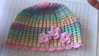 Летняя шапочка крючком. ( Summer hat crochet. )