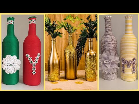 diy-30-wine-botttles-craft-idaes-  -wine-bottles-decorations-decorations  -diy-craft-videos