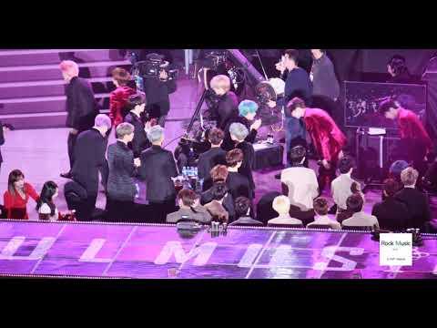 nct127 본상 수상 축하해주는 방탄소년단(BTS), 세븐틴 Seventeen [4K 직캠]@190115 락뮤직