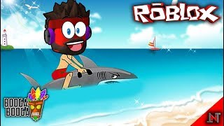 ROBLOX indonesia #125 Booga Booga | Taming Hiu Gagal Cari Meteor