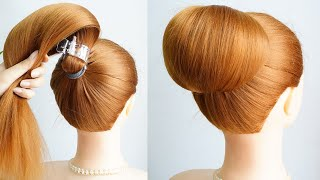 Easy High Bun Hairstyles For Wedding And Party Prom Hairstyles Updos Hairstyle Girls 2021