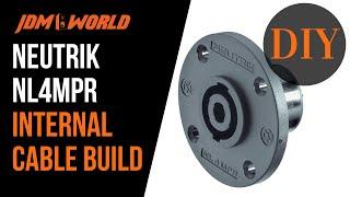 DIY Subwoofer Internal Neutrik NL4MPR Speakon Cable Build - For the GSG Audio Marty Cube v2.