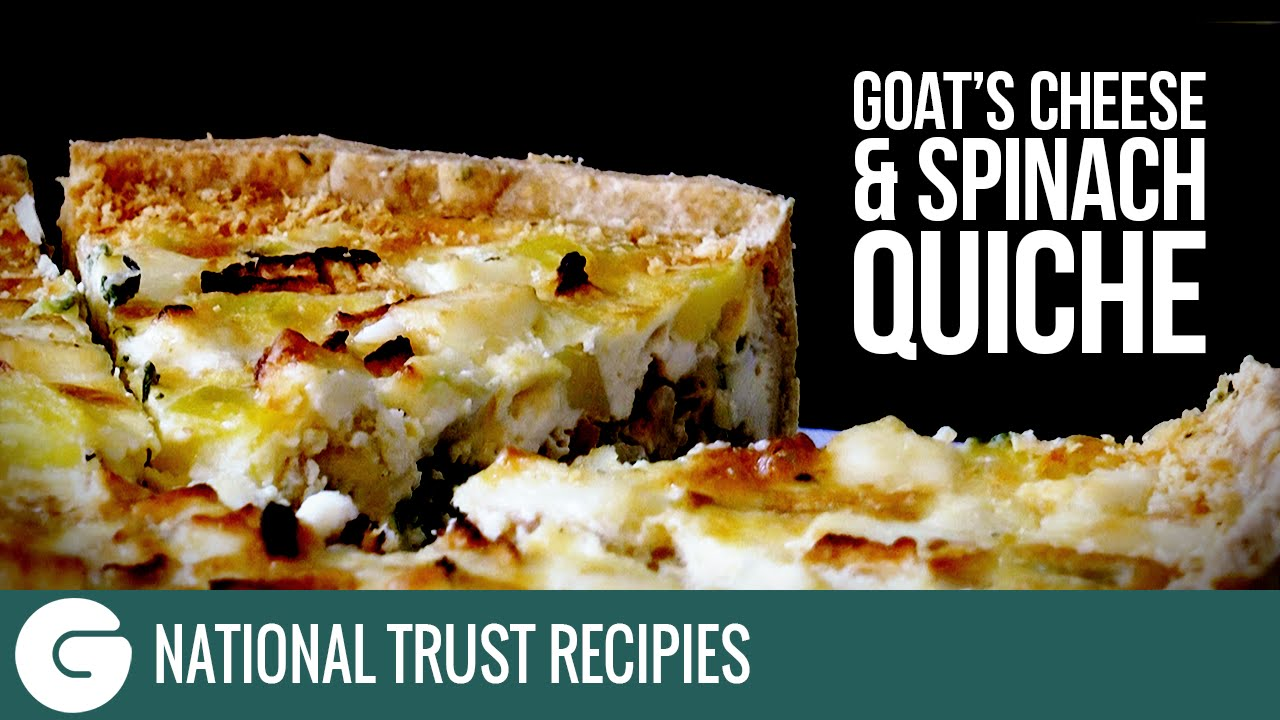 How To Make National Trust Goat S Cheese And Spinach Quiche Youtube