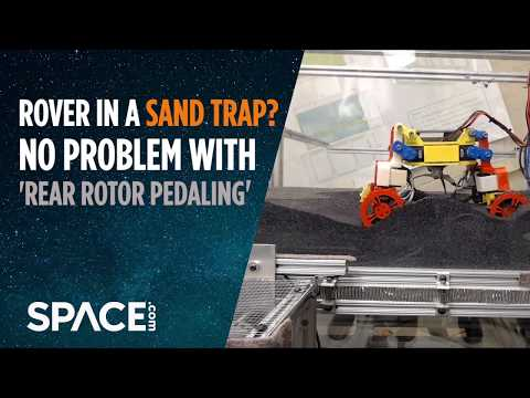 Rover in a sand trap? No problem with 'rear rotor pedaling'