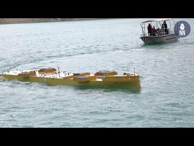 La DGA teste le porte-avions de nouvelle génération PA-NG au Lac de Castillon