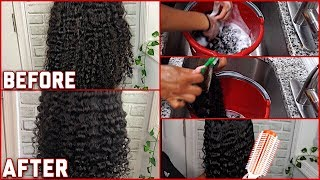 How to Wash &amp Maintain Curly Wigs ft. Julia Hair