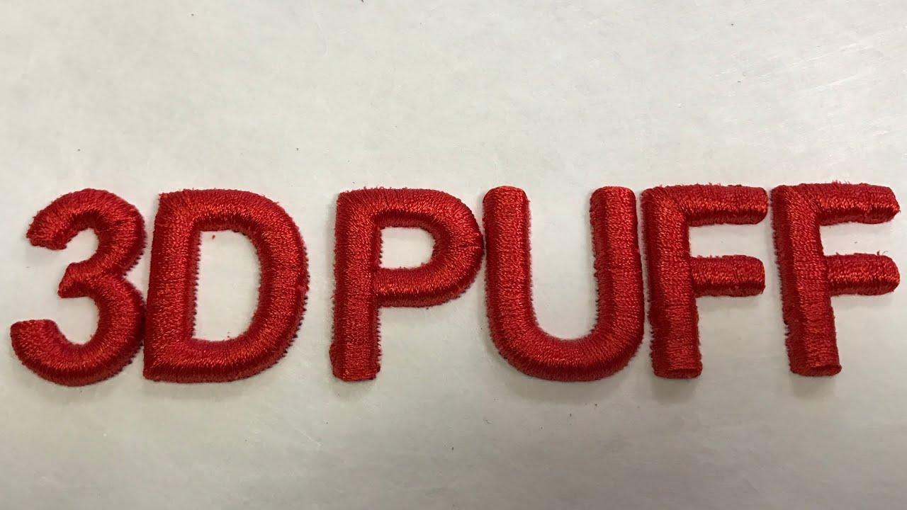 3d puff embroidery machine