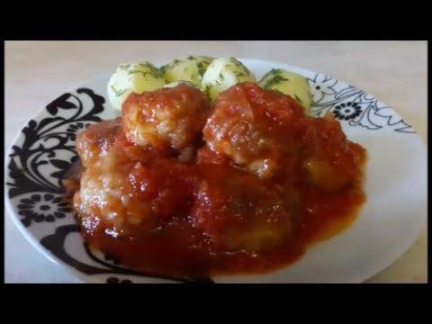 Рыбные фрикадельки в томатном соусе в мультиварке
