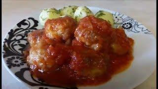 Очень ВКУСНЫЕ рыбные ФРИКАДЕЛЬКИ рецепт Фрикадельки в ТОМАТНОМ соусе Meatballs
