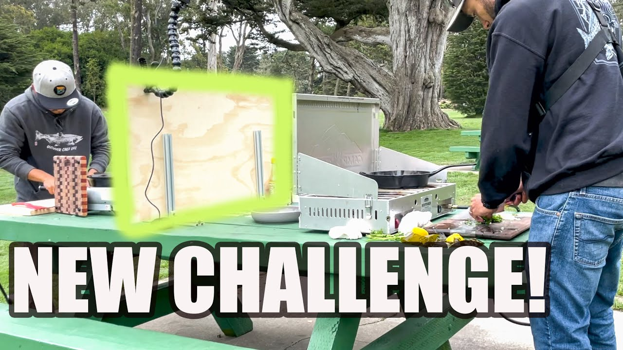 PARTITIONED COOKING CHALLENGE With Fisherman's Life   Can He Keep Up??