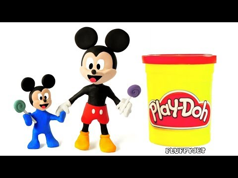Mickey Mouse Baby & Giant Toys children Pretend Play Doh Stop Motion Video For Kids Full Episodes