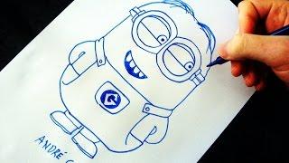 Como Desenhar um Minion [Meu Malvado Favorito] - (How to Draw a Minion) - SLAY DESENHOS #109