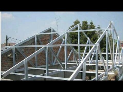 renovasi atap baja ringan rumah tipe 36 cara menghitung kebutuhan rangka youtube
