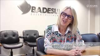 Depoimento da Diretora-Presidente do Badesul, Jeanette Halmenschlager Lontra