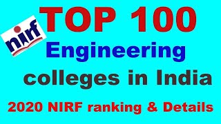 Top 100 engineering colleges in India- 2020 NIRF ranking and details | career connections