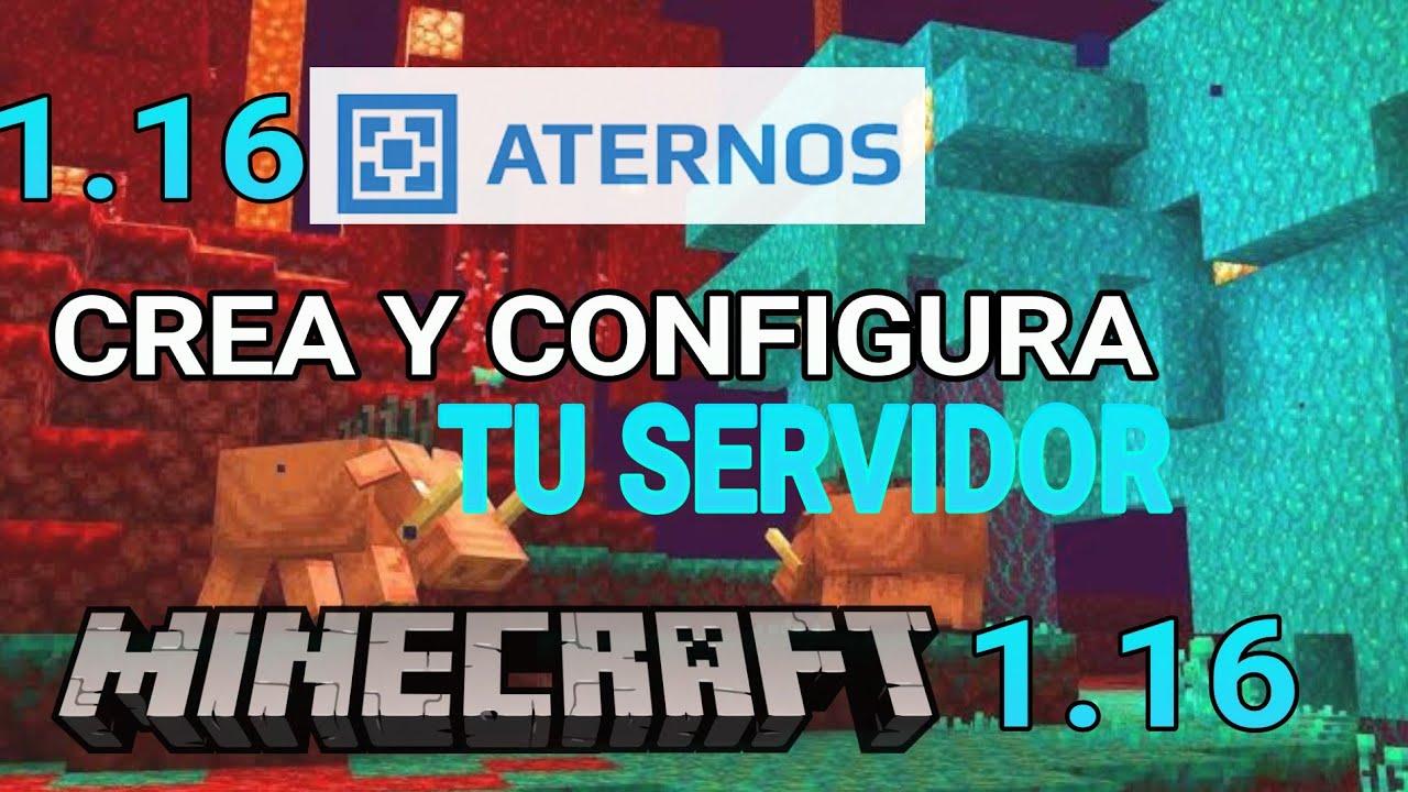 COMO CREAR TU SERVIDOR EN ATERNOS PARA MINECRAFT 1.16 NO ...