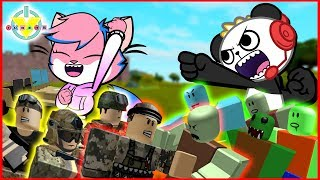 CRAZY TOWER BATTLES Let's Play Roblox with Combo Panda Vs. Alpha Lexa