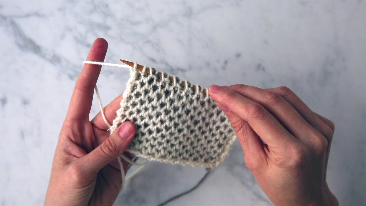 Two-Color Honeycomb Brioche Tutorial | Purl Soho - YouTube