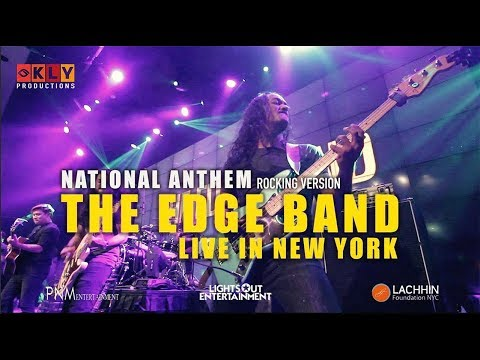 NEPALI NATIONAL ANTHEM SONG- THE EDGE BAND LIVE IN NEW YORK - ROCKMANCH - 2017