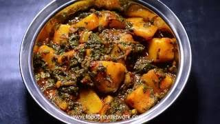 Aloo Palak | Healthy Indian Dinner Recipe | Vegetarian Cooking.