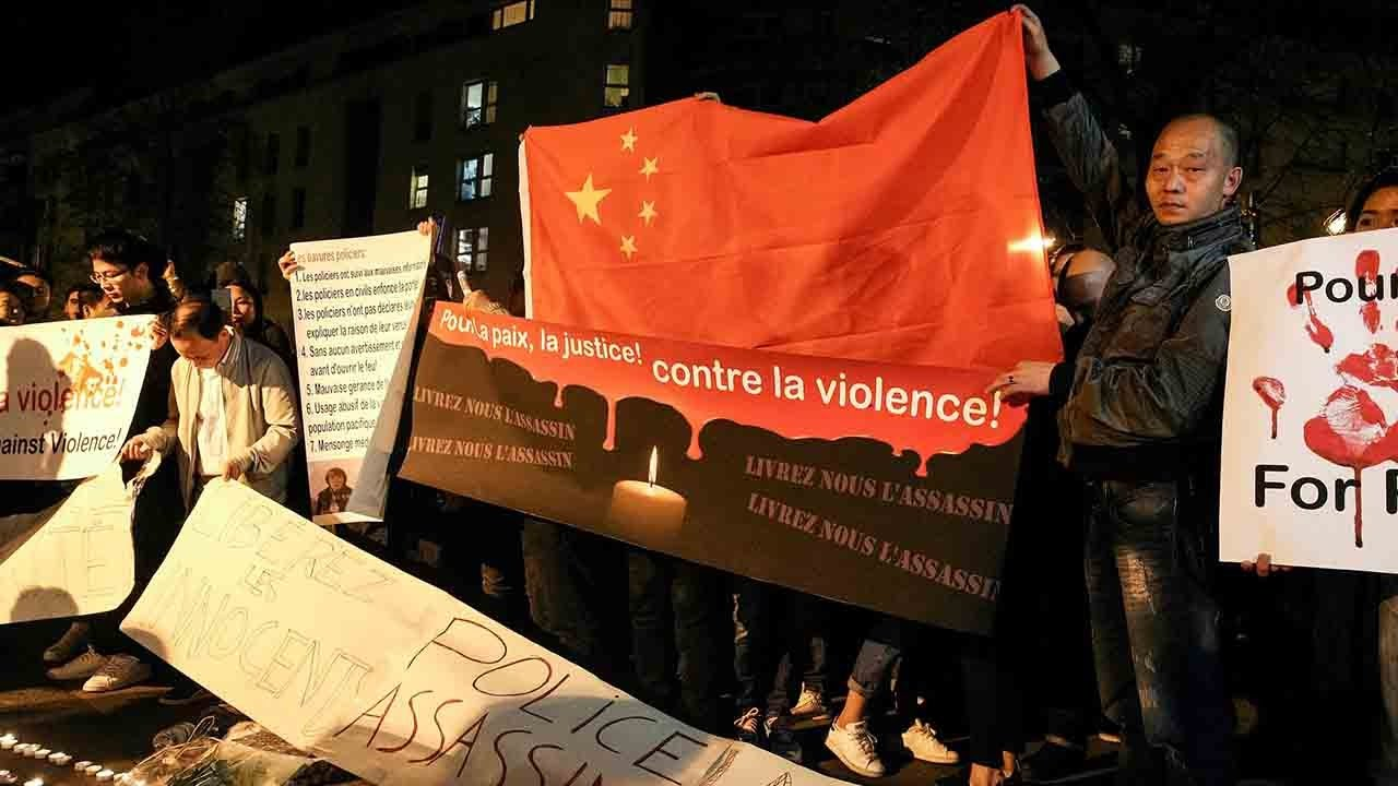 Chinese diaspora in France protests over police shooting of Liu Shaoyao