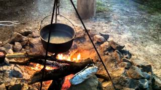 Campfire cooking - Poor Man's Lobster - Boiled Bluegill.mp4
