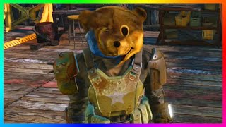 Fallout 4 - BEST HELMET/MASK EVER! - How To Get The Bear Head Mascot Armor In Fallout 4!