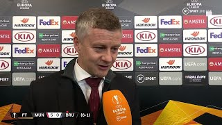 """We looked like we wanted to play attacking football."" Solskjaer on United's Brugge dominance"