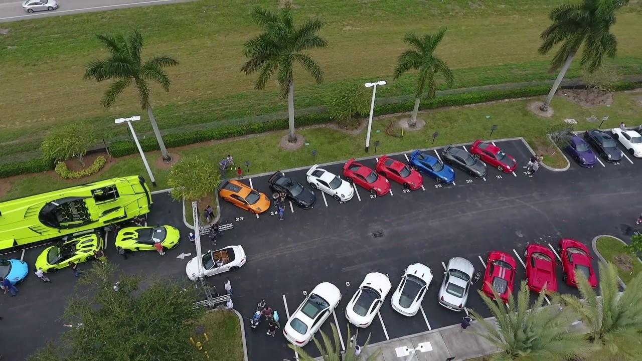 Supercar Saturdays Florida Porsche West Broward Amp Lamborghini Broward Youtube