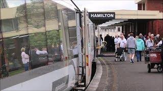 """【ニュージーランド】 「ノーザンエクスプローラー」 ハミルトン駅発車 """"Northern Explorer"""", Hamilton Station New Zealand (2018.10)"""