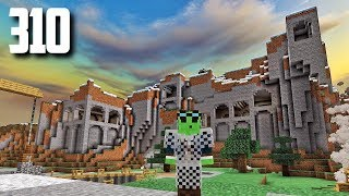 Let's Play Minecraft - Ep.310 : Mountain Castle Carving!