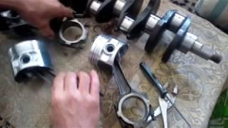 Установка стопорных колец на поршневой палец (поршень от ВАЗ 21213)