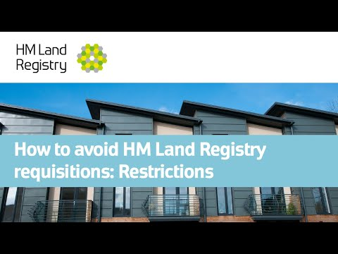 How to avoid HM Land Registry requisitions: Restrictions