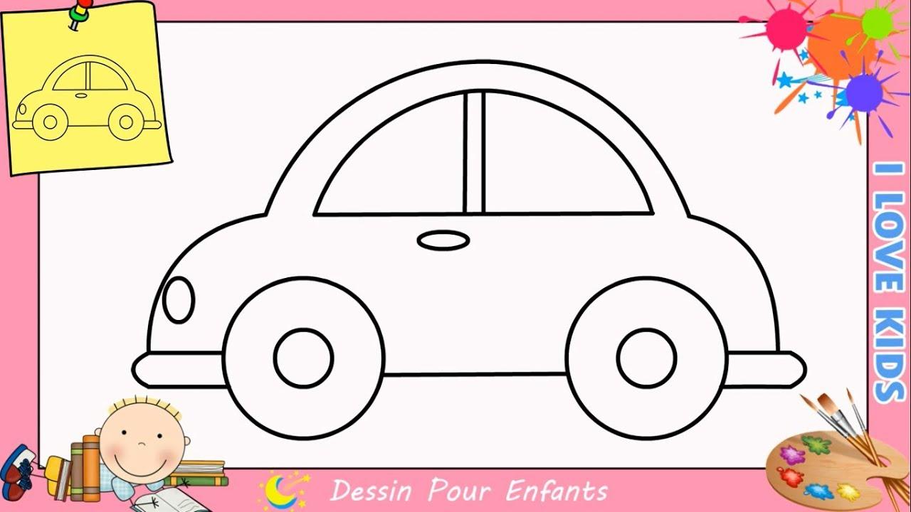 Comment dessiner une voiture FACILEMENT etape par etape ...
