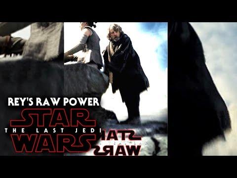 Star Wars The Last Jedi Trailer - Rey's Raw Power Terrifies Luke & More!