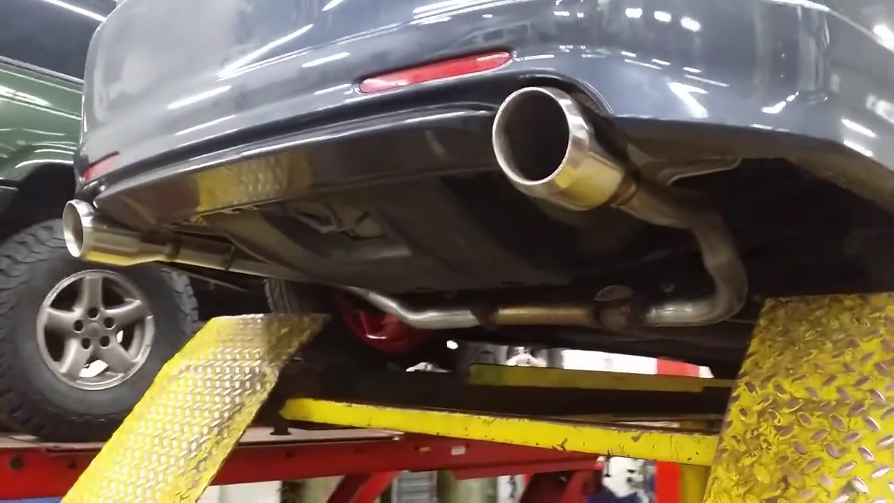 Acura TSX Dual Exhaust System YouTube - Acura tsx exhaust