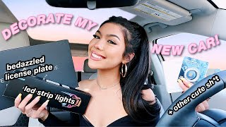 DECORATE MY NEW CAR WITH ME + CAR TOUR!
