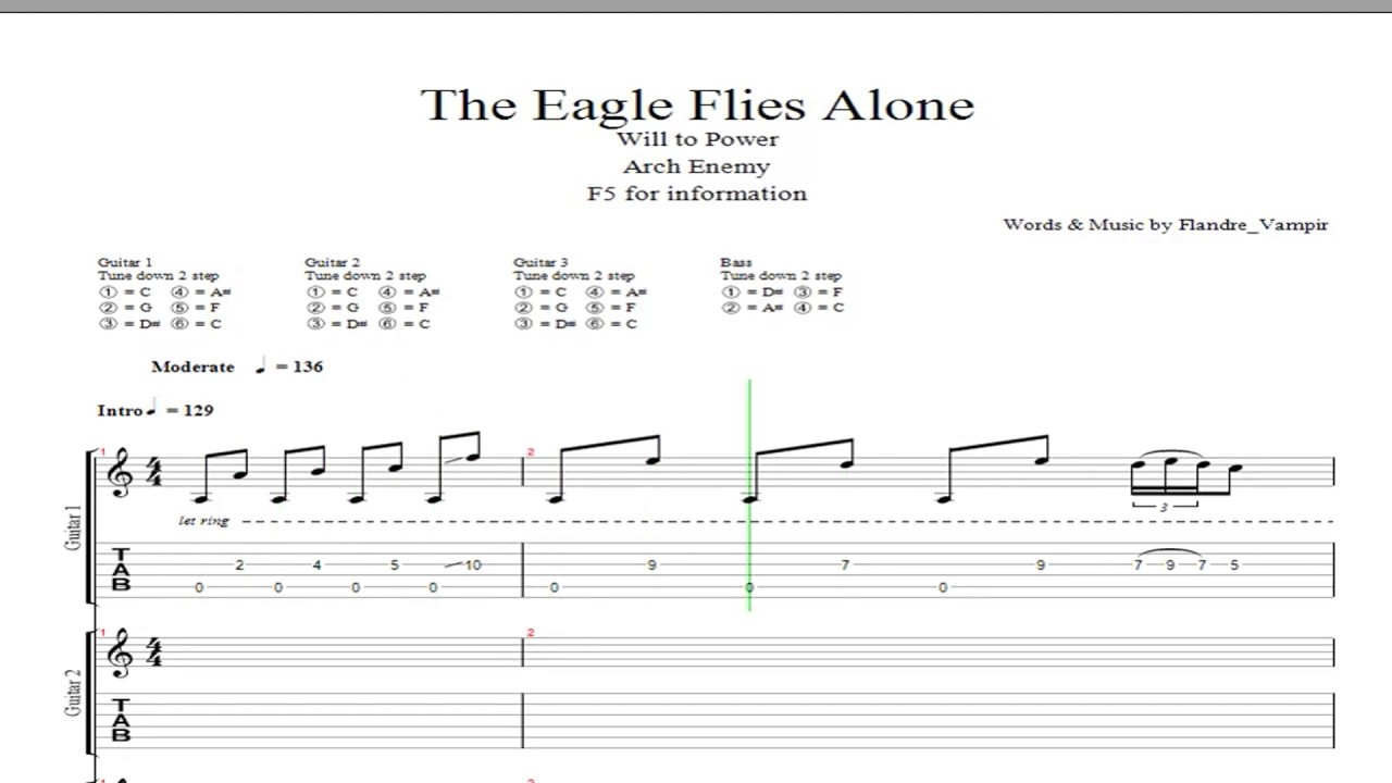 Arch Enemy The Eagle Flies Alone Guitar Cover Youtube