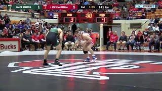 141 LBs: Matt Santos (Michigan State) vs. #2 Joey McKenna (Ohio State)   Big Ten Wrestling