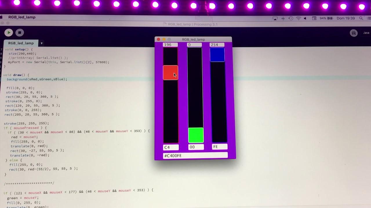 RGB WS2812 serial arduino