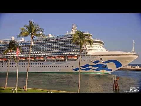 CARIBBEAN PRINCESS Arrives Port Everglades On 4/27/2020