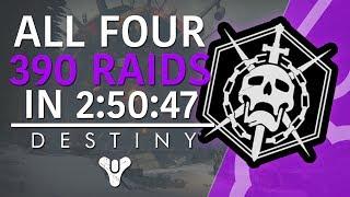 Destiny: ALL 4 RAIDS AT 390! IN 2:50:47! VOG, CROTA, KINGS FALL, WOTM!