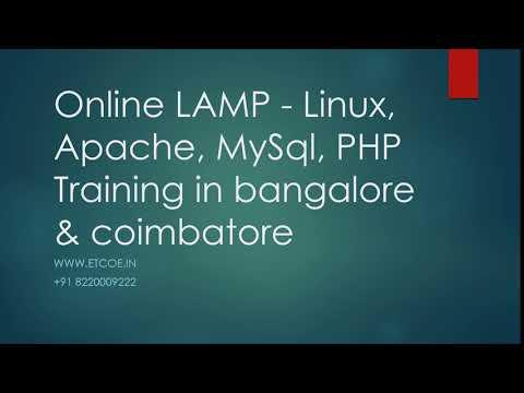 Online LAMP   Linux, Apache, MySql,PHP TRAINING IN BANGALORE & COIMBATORE-ETCOE.IN